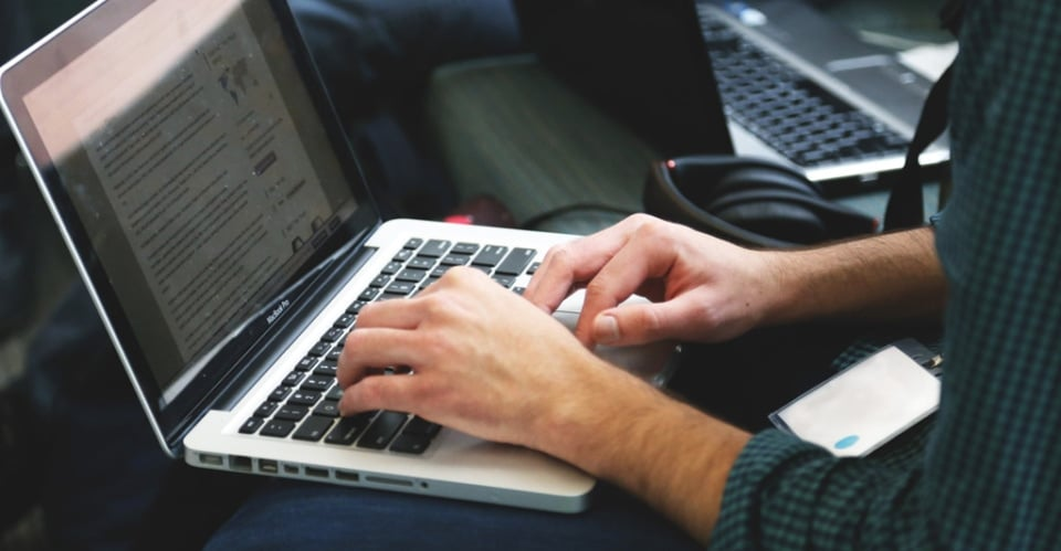 an image of a laptop useras partof their internship at encompass