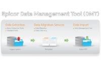an image of the Epicor data management tool, dmt or data management tool, workflow