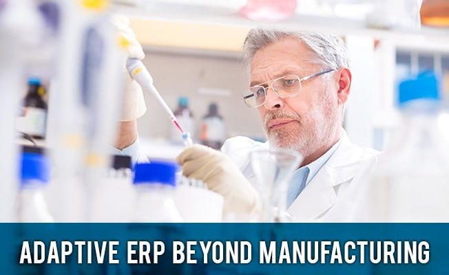 an image of a life sciences employee utilizing adaptive ERP to improve processes