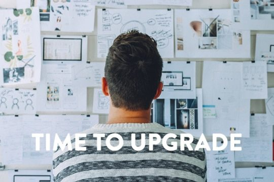image of man pondering the costof doing nothing when its time to upgrade software.