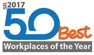 Logo for Silicon Review 50 best workplaces of 2017