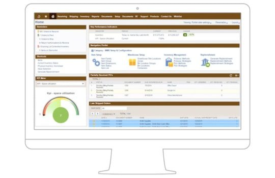 NA image of the NetSuite ERP Order and Warehouse fulfillment dashboard - with Expiration and Shelf Life Tracking