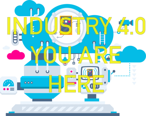 a conceptual graphic representing industry 4.0