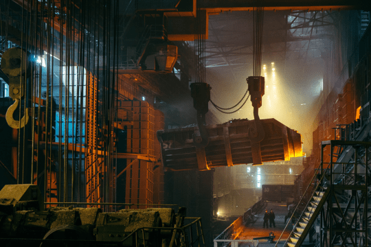 an image of a steelmill as pat of the mach 2019 news and updates from encompass solutions 2019 manufacturing trends