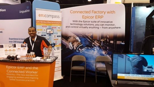 an image of the encompass solutions booth team at automate 2019