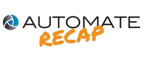 an image of the may 2019 news and updates for the encompass solutions automate 2019 recap