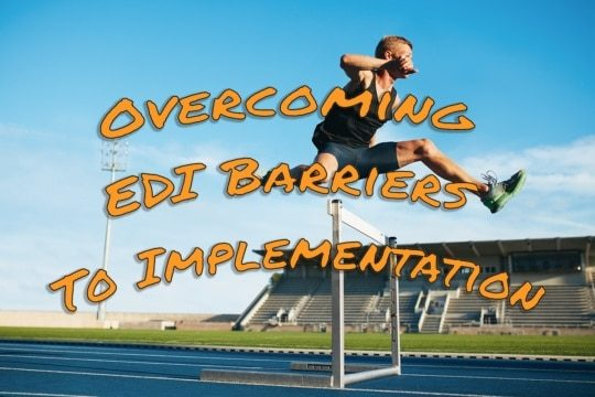 an image of a hurdler jumping over a hurdle symbolizing overcoming edi barriers to implementation