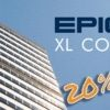 an image of Epicor headquarters witht he text Epicor XL Connect 7 Summer Sale 20% off
