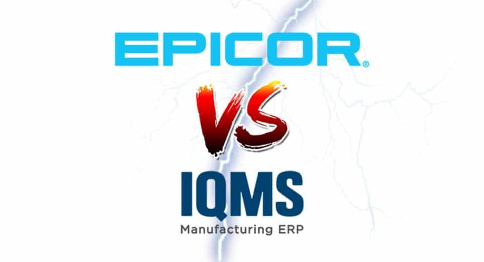 an image of epicor versus IQMS as chosen by metaphase technologies