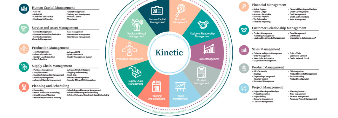 an image of the complete epicor erp overview. including a complete system diagram of all core modules and components
