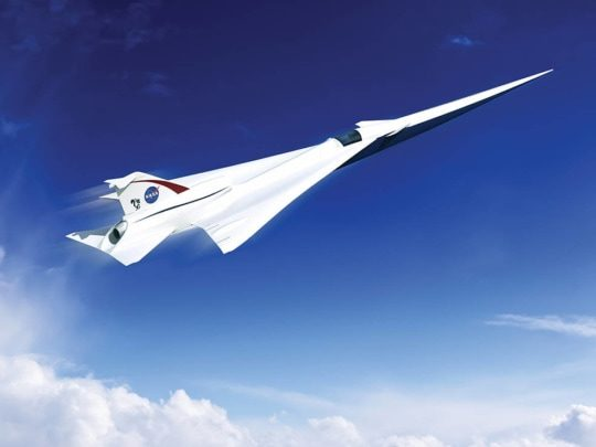 an image of a supersonic jet as part of the nasa 2019 advanced manufacturing technologies