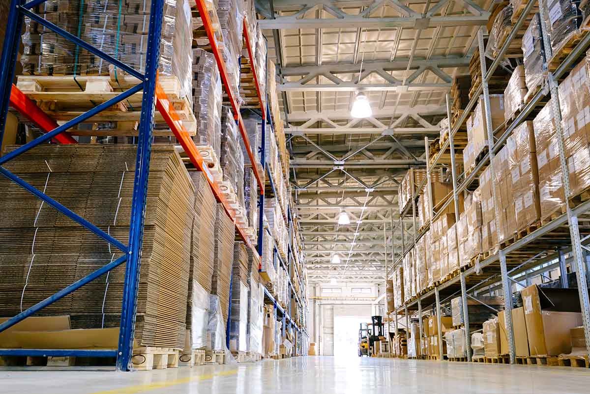 an image of a full warehouse as part of ERP Supply Chain Management solutions