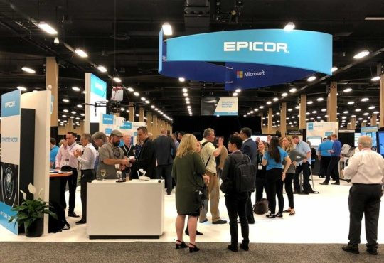 an image of the Epicor Insights Executive view exhibit floor