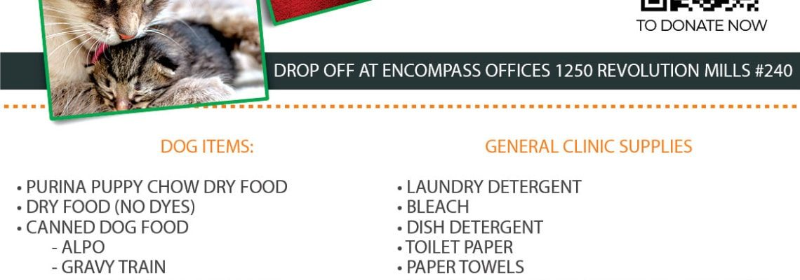 an image of the ENCOMPASS Q1 DONATION DRIVE SPCA FLYER
