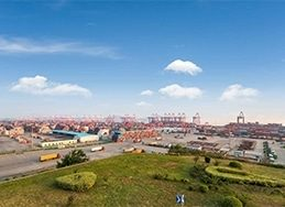 an image of shanghai harbor as part of the global ERP software for distributors, prophet 21