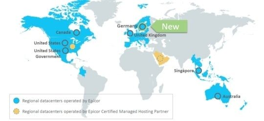 an image of epicor erp cloud 10.2.600 new epicor erp cloud data center in Germany