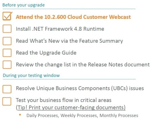 epicor erp cloud 10.2.600 update checklist