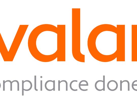 a logo image of Avalara, tax experts and providers of the free sales tax risk assessment tool