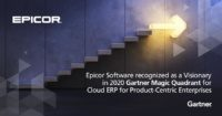 an image advertising the 2020 gartner magic quadrant for cloud erp report
