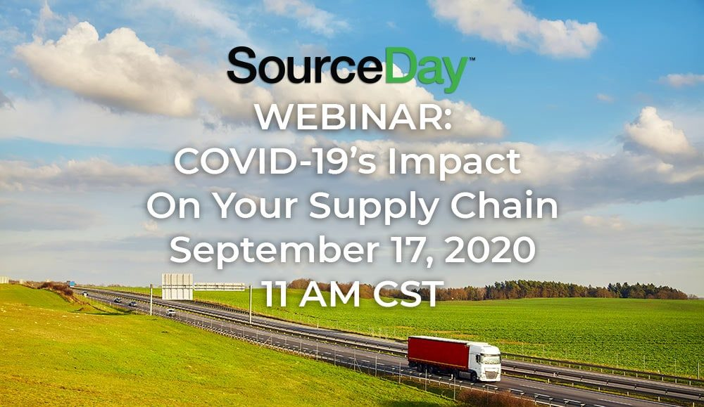 an image of sourceday's upcoming webinar on covid-19 supply chain disruptions
