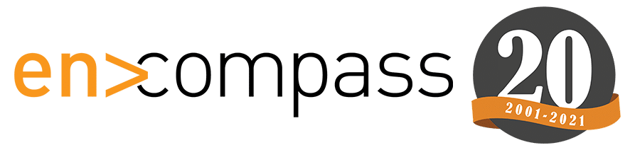 An image of the Encompass Solutions 20th anniversary logo