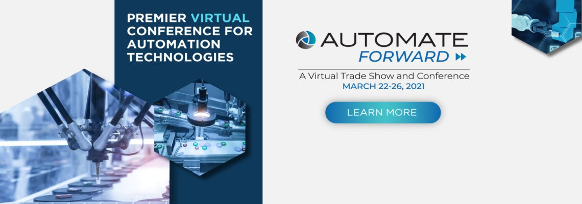 The official banner image for the Automate Forward virtual trade show and conference