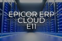 A Banner Displaying News that the Epicor ERP Cloud 11.1.100 Upgrade has been announced